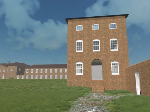 Digital 3D model of the 1777 Gressenhall House of Industry produced by the authors and their student collaborators and rendered in Unity 3D.