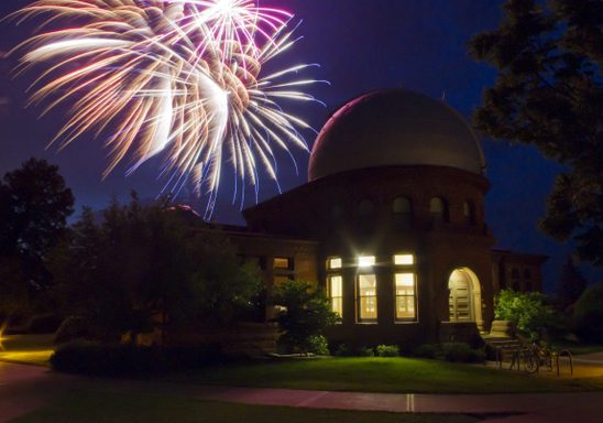 Reunion Fireworks over Goodsell