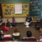 We went to a local first grade classroom to have philosophical discussions with kids!