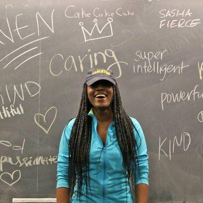 Student at a BSA (Black Student Alliance) event