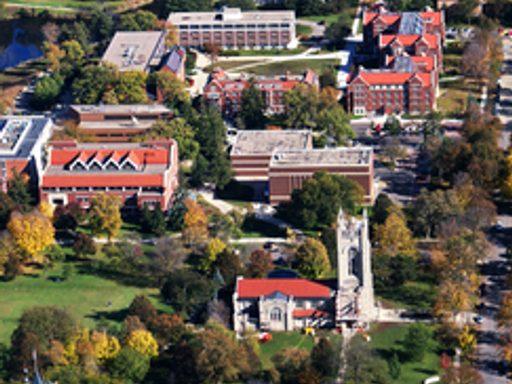 Aerial view of Carleton's Campus