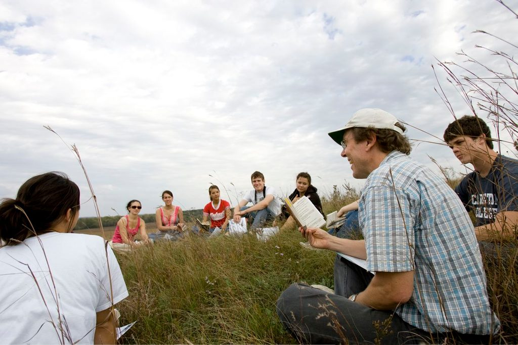 Mike Kowalewski with class at McKnight Prairie.