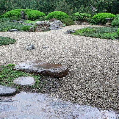 Japanese Garden in the Rain