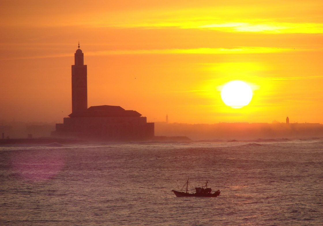 Sunset with Hassan II Mosque