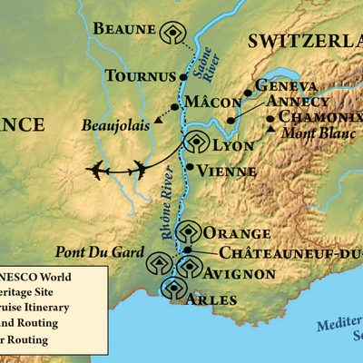 Springtime in Provence, itinerary map