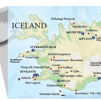 Ultimate Iceland - Itinerary Map 2021