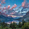 Sunrise over Wild Goose Island, Glacier National Park, Montana
