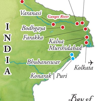 Map for Journey Down the Ganges