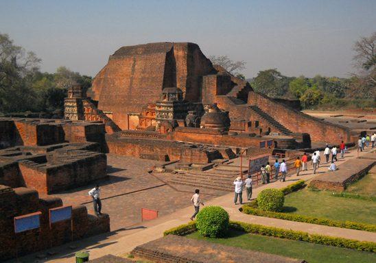 Nalanda, an ancient Buddhist university.