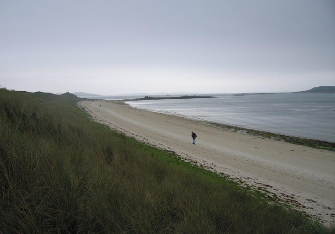 A beach at Tresco, Isles of Scilly.