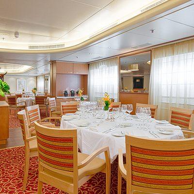 Restaurant aboard the Corinthian.