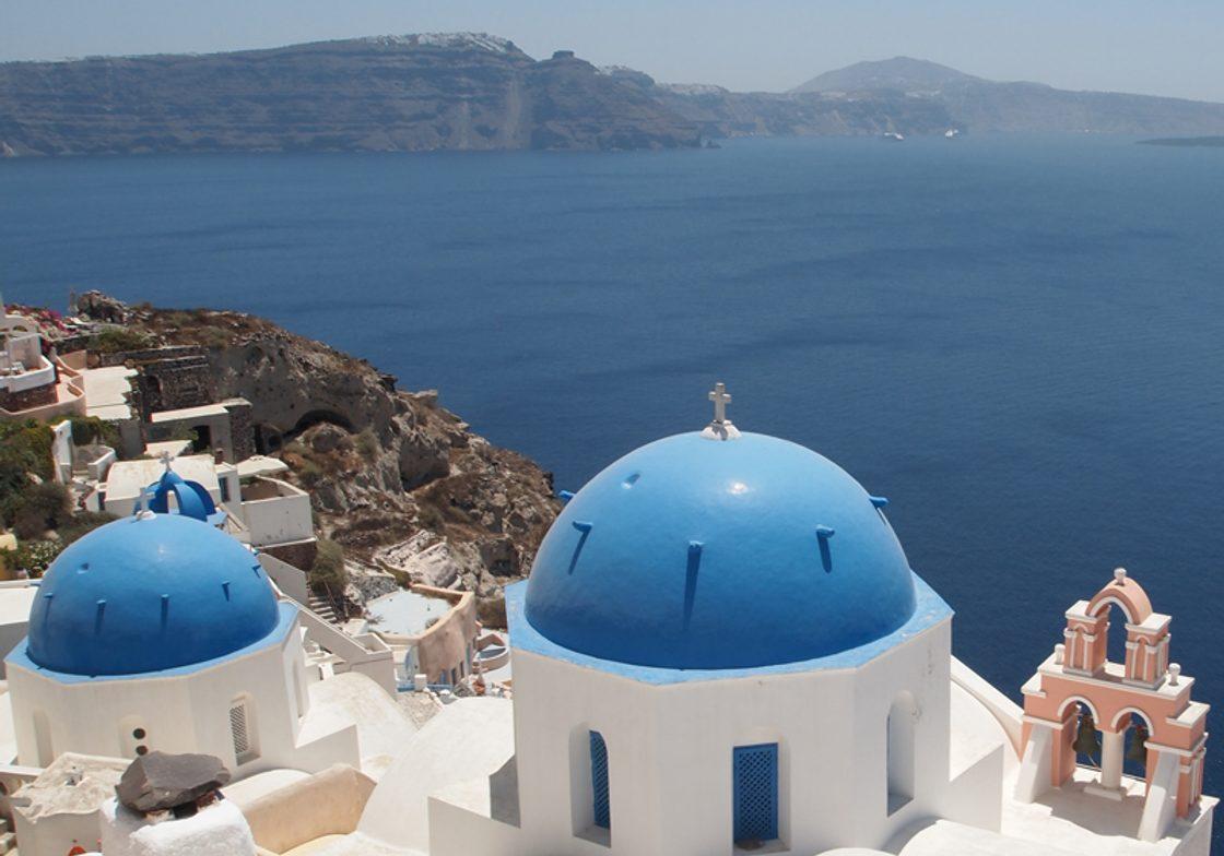 The island of Santorini