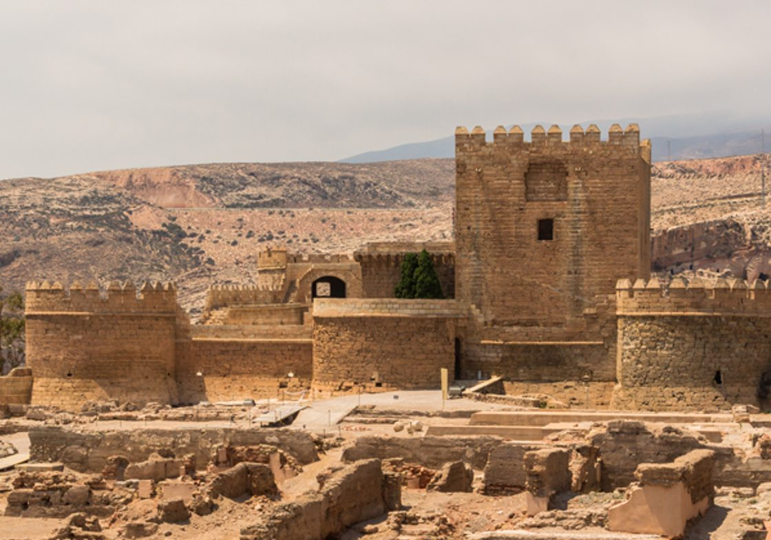 Christian fortress in Alcazaba, Almeria, Spain.