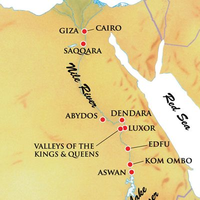 Map for this itinerary