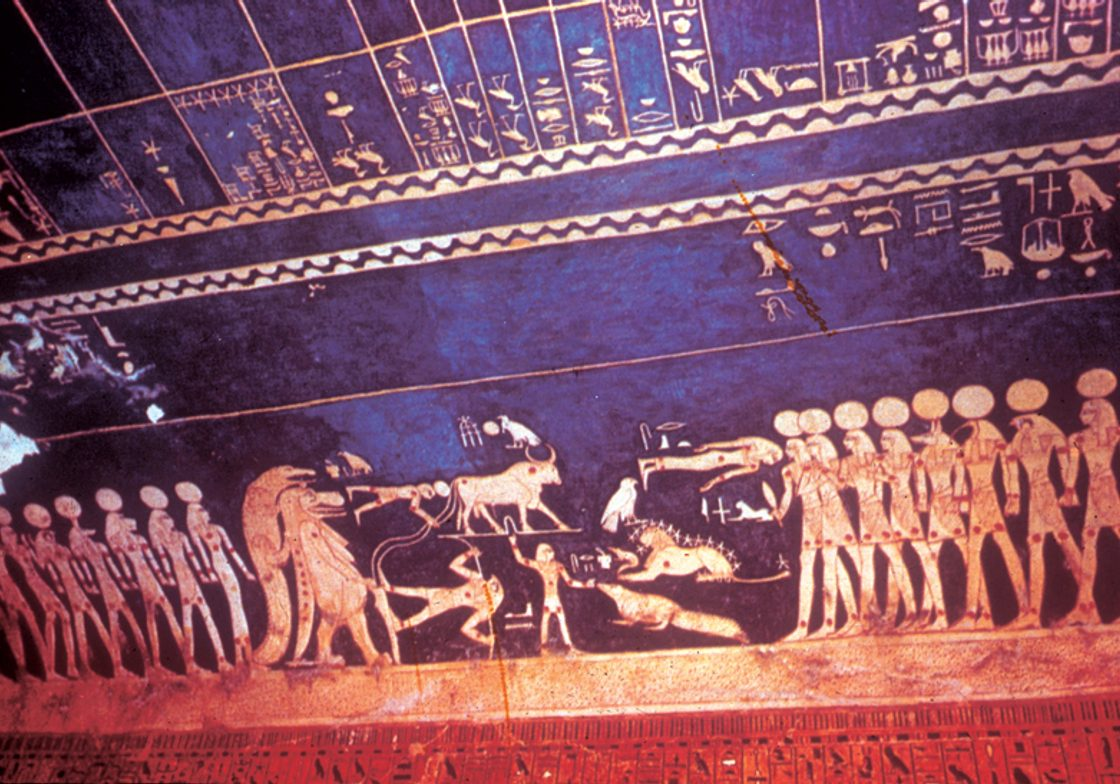 An image from within the Tomb of Seti I (closed to the public).