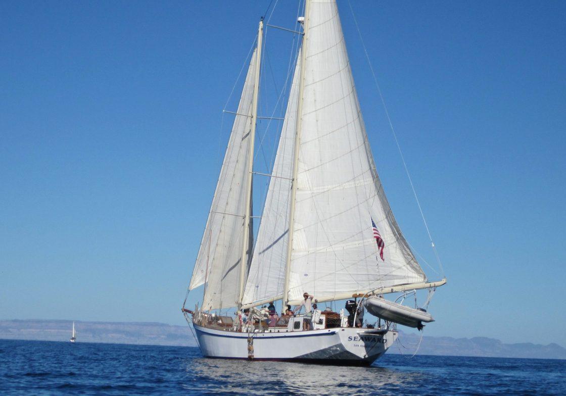 Schooner Seaward in Action