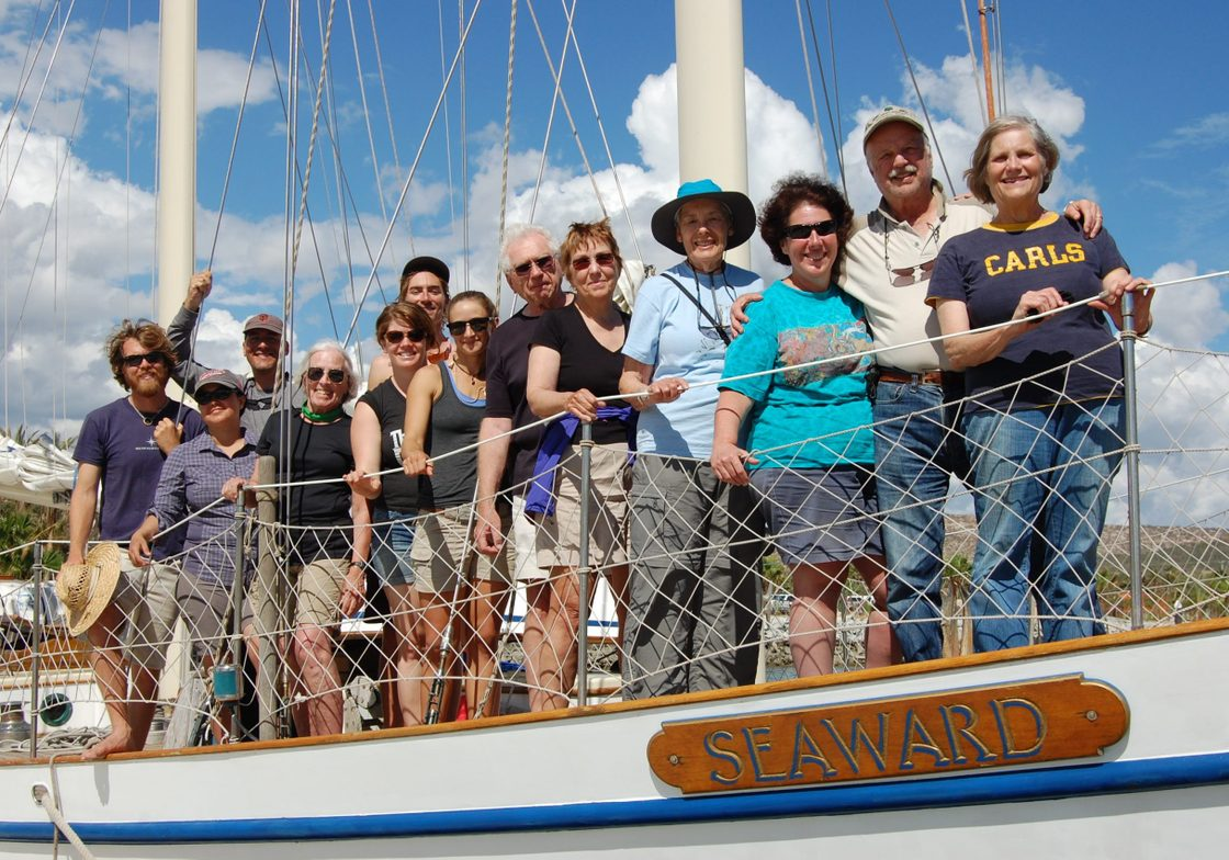 Carls and Seaward crew ready to depart on the first day of voyage II in 2015