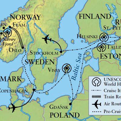 Baltic Sea 2016 itinerary map