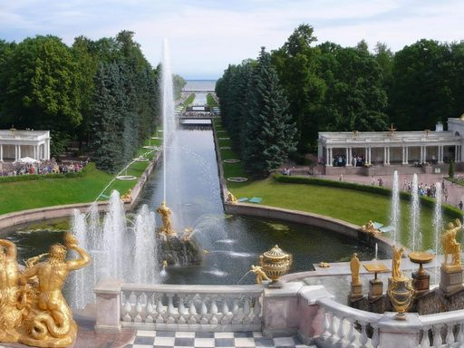 Grand Palace at Petrodvorets, outside of St. Petersburg