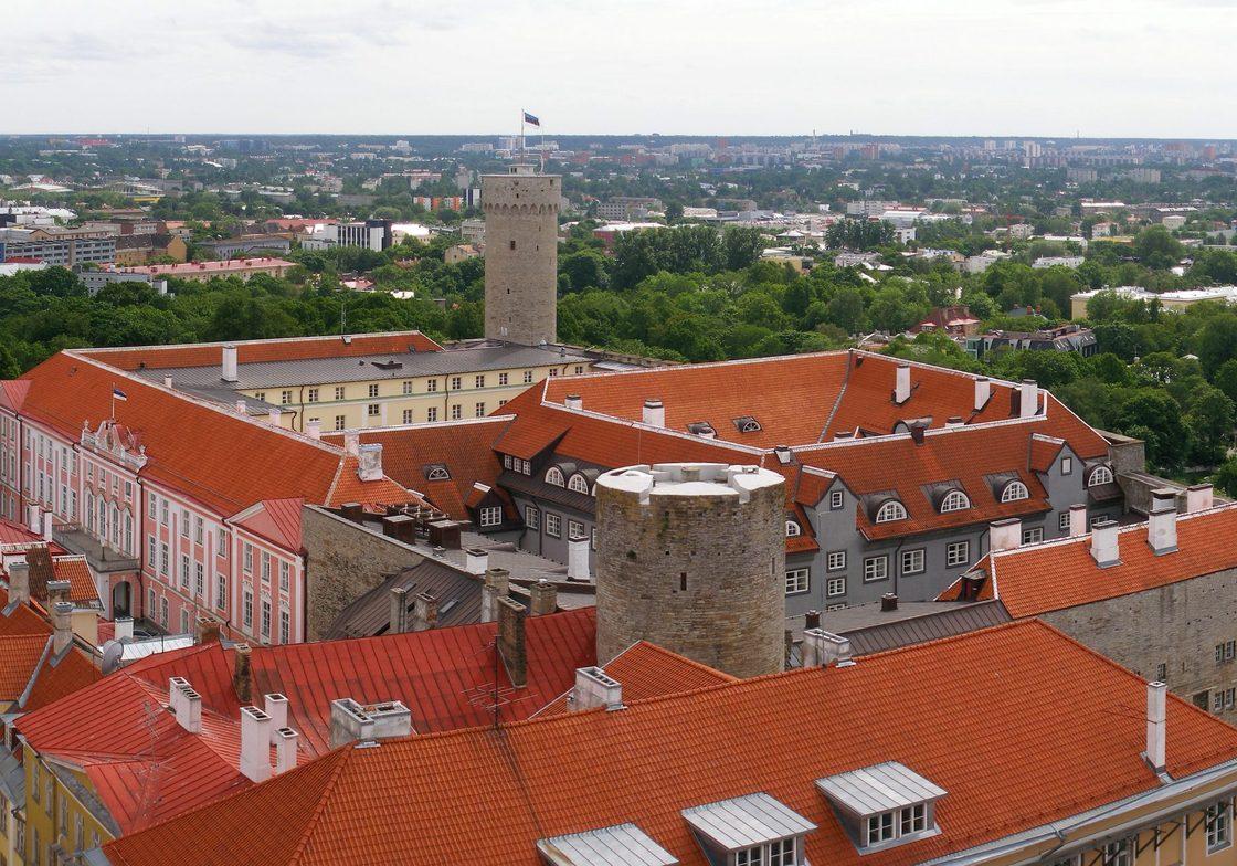 View from northeast. Toompea Castle, Tallinn