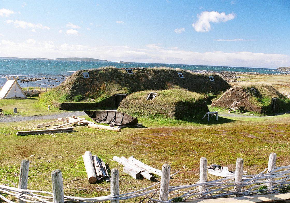 A Norse Long House excavation, L'Anse aux Meadows