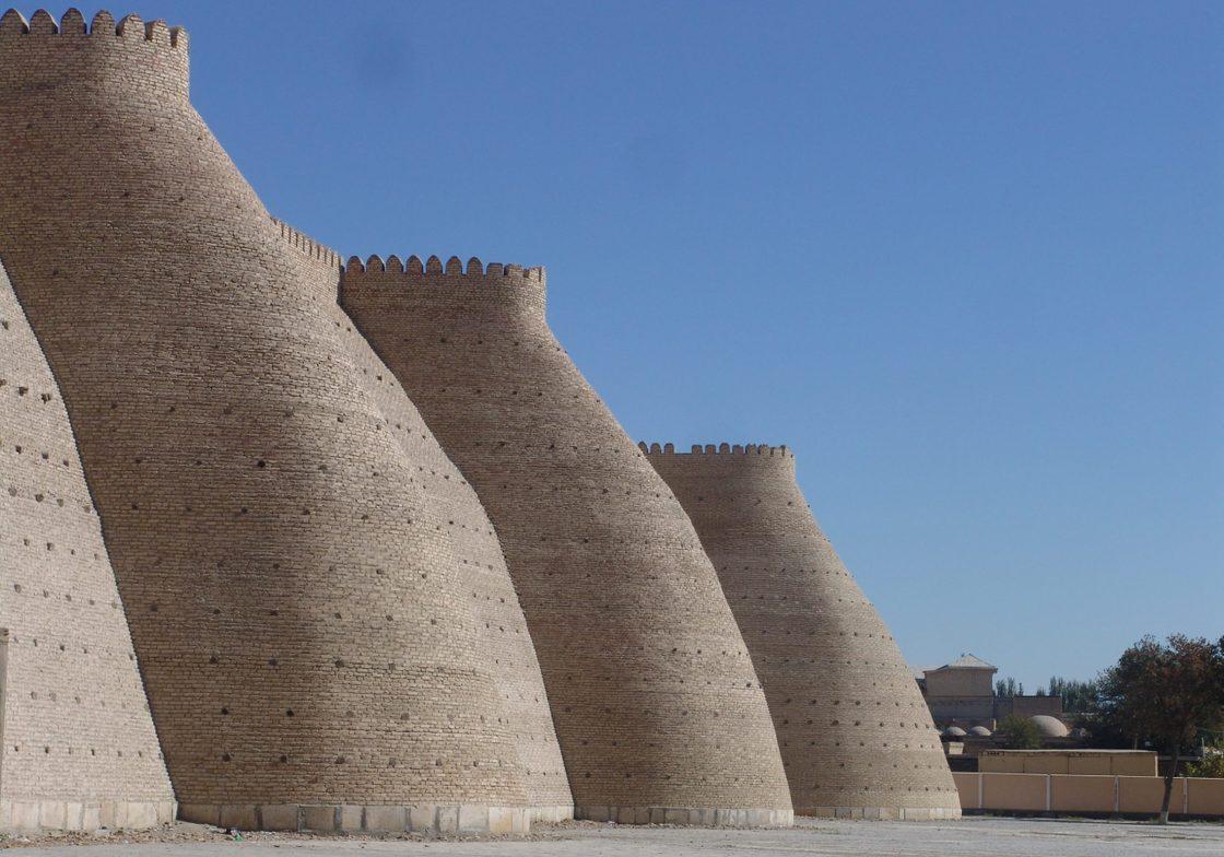 The city walls of Bukhara