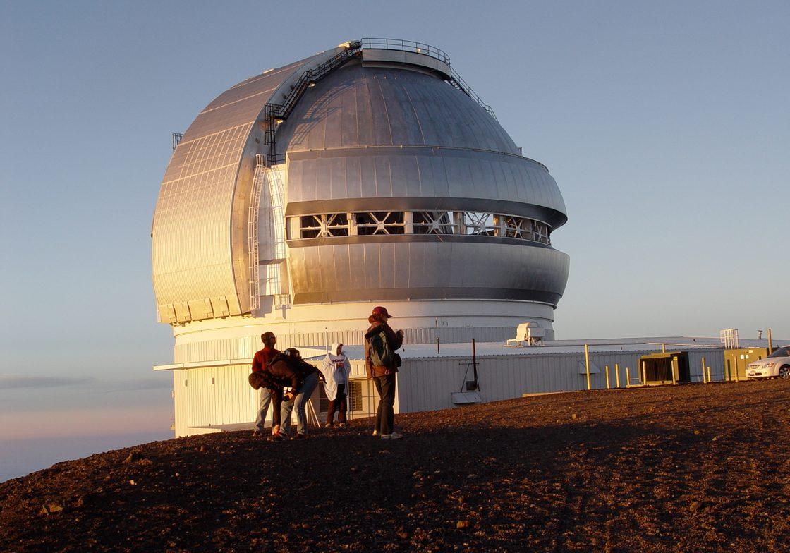Gemini North at sunset on top of Mauna Kea.
