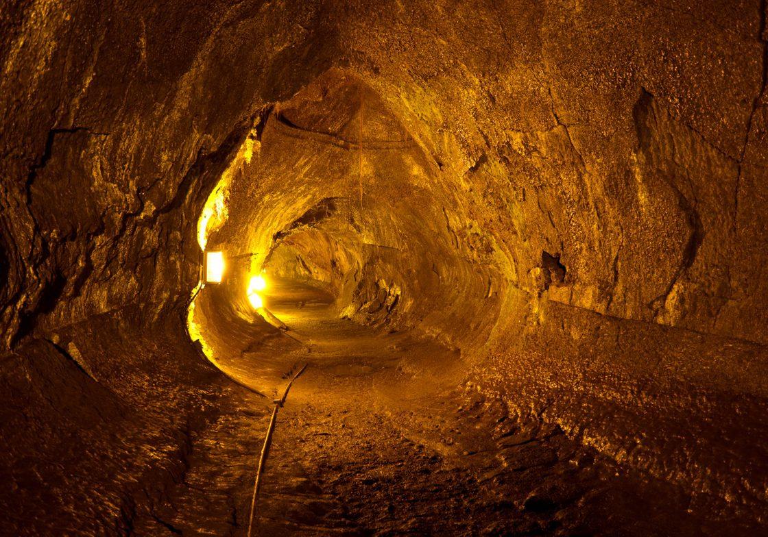 Thurston Lava Tube at Hawaii Volcanoes National Park, Big Island, Hawaii.