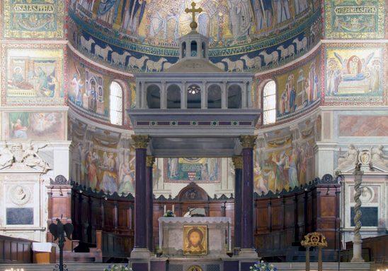 Altar and Ciborium of Santa Maria in Trastevere.