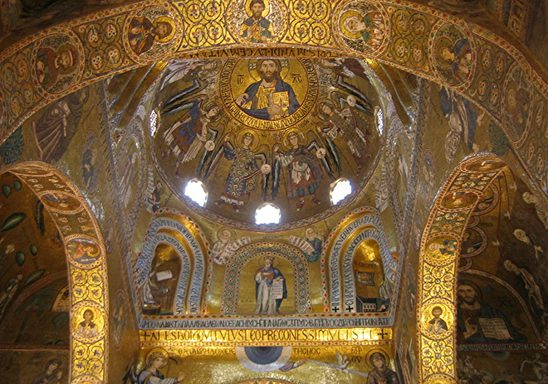 An interior view of Monreale Cathedral.