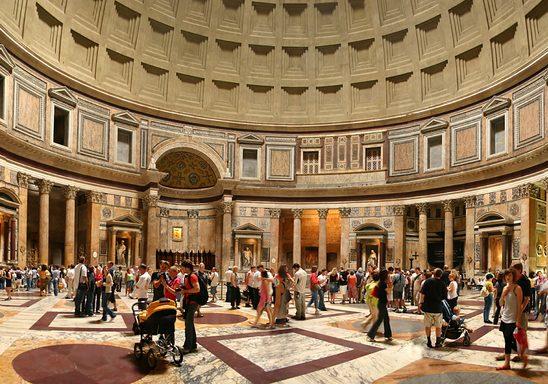 The rotunda inside the Pantheon