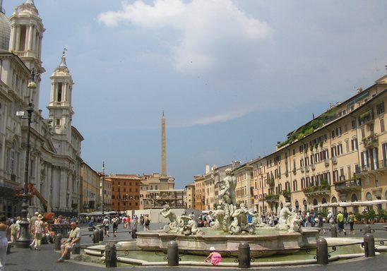 The Piazza Navona, Rome