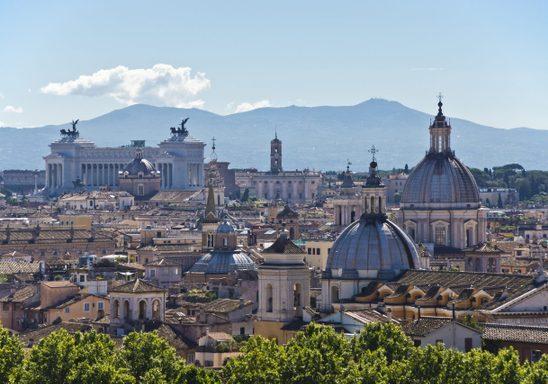 Skyline of Rome.