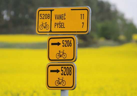 Cycling signs, Czech Republic.
