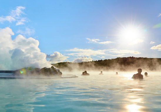 "The Blue Lagoon, a ""natural"" geothermal pool in Reykjavík"