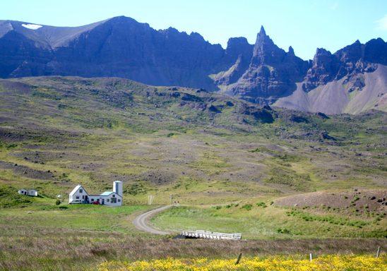 The mountainous Tröllaskagi Peninsula