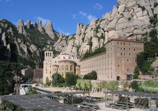 A view of the monastery at Montserrat.