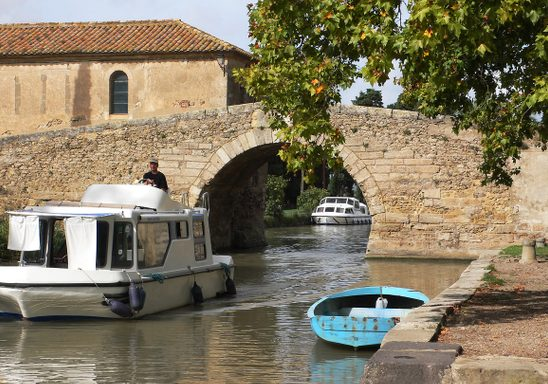 Typical bridge over Canal du Midi.