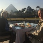 Breakfast in front of the Pyramids