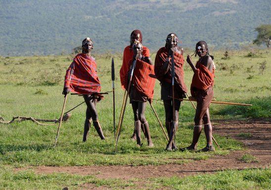 Maasai warriors.
