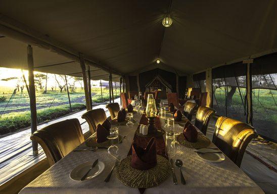 Sametu Camp dining area.