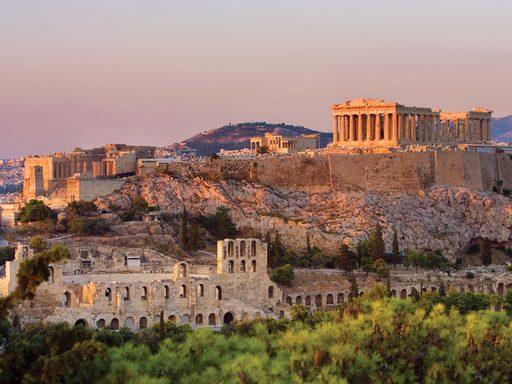 The Parthenon atop Athens' Acropolis