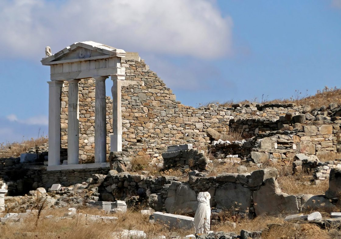 The temple of Isis on Delos, Greece