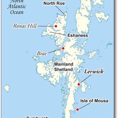 Map of Shetland