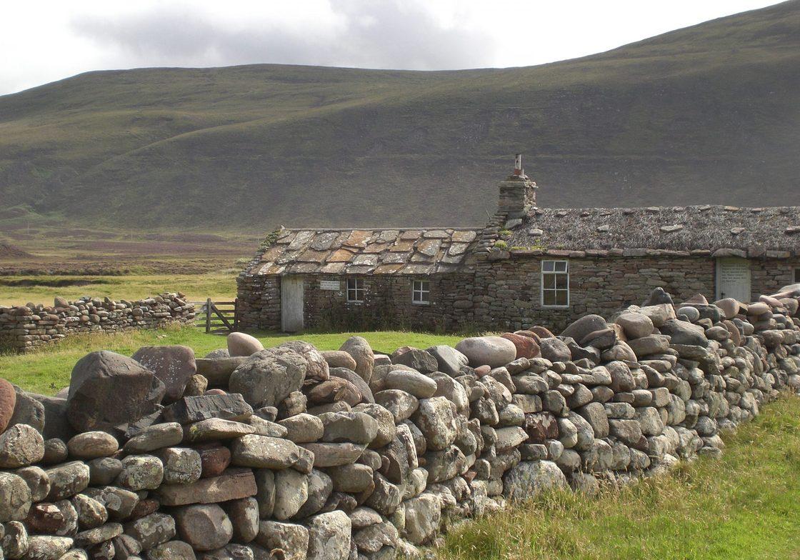 Local farmhouse on Orkney.