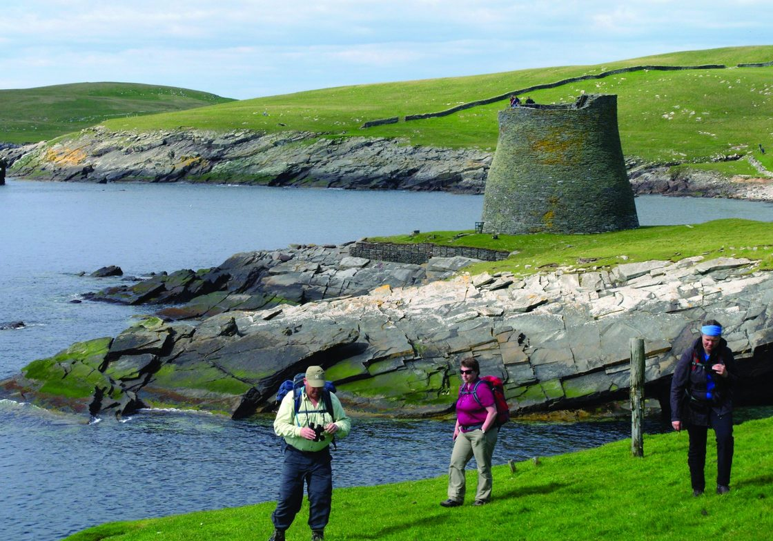 Iron Age broch on Isle of Mousa.