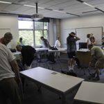 Rearranging classroom furniture