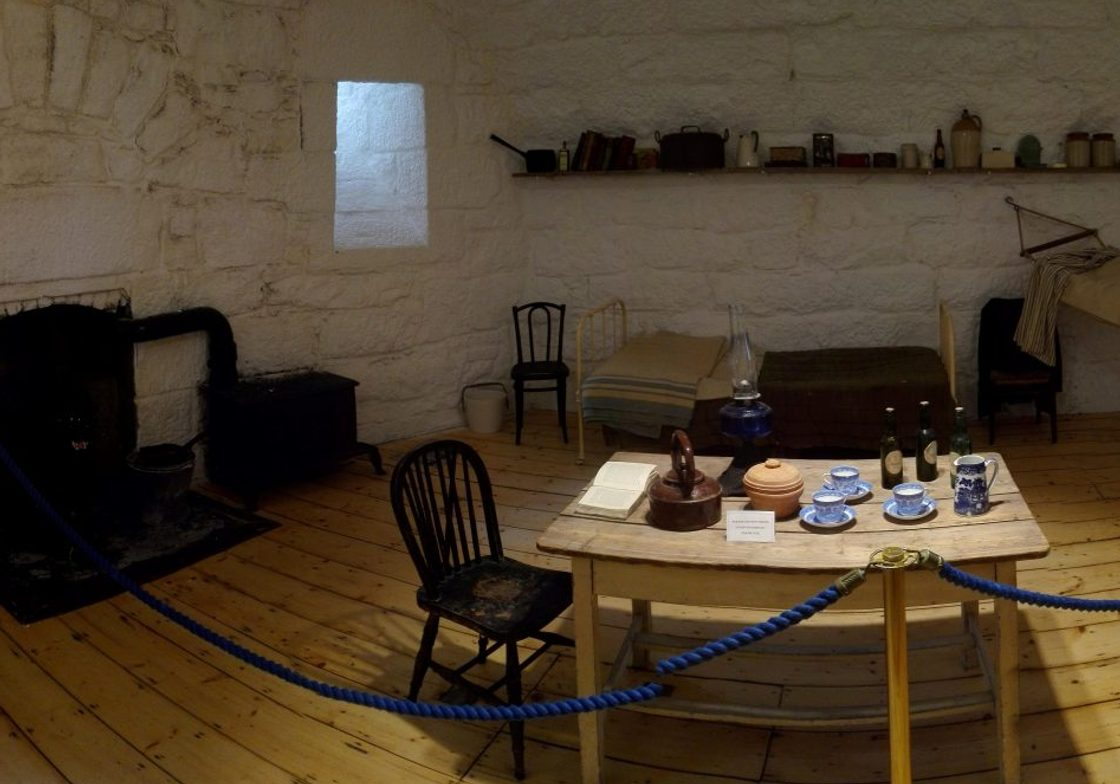 Inside the James Joyce Tower and Museum.