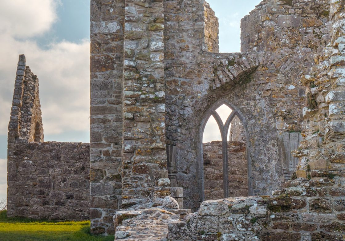 The ancient Monastery of Clonmacnoise.