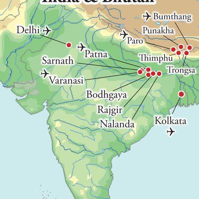 Northern India and Bhutan_Map